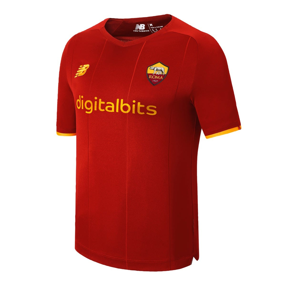 AS Roma Home Jersey Shirt, Men, 2021/22 w/t free Face Mask