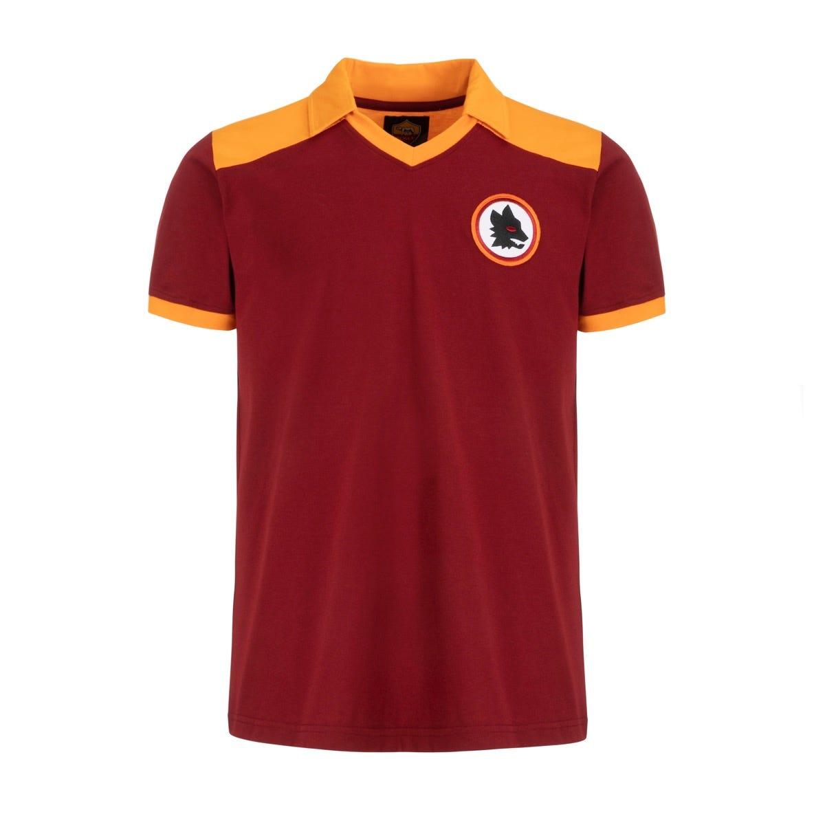 Men's AS ROMA Retro 1980 short-sleeved jersey – red