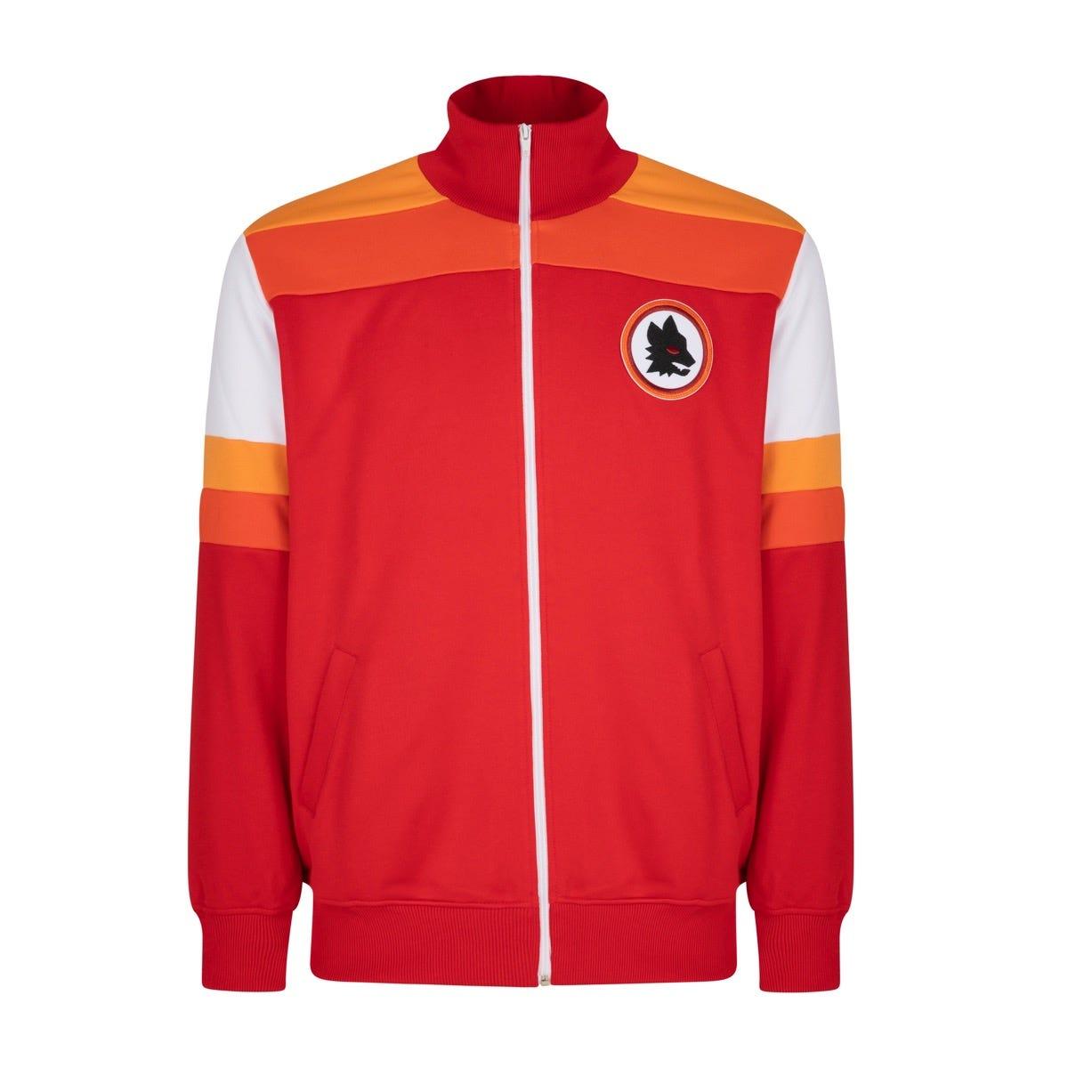 Men's AS ROMA Retro 1979/80 zip-up jacket – red