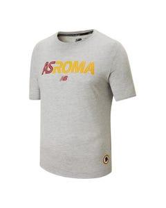T-Shirt con logo AS Roma, uomo, grigia
